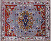 9and039 0 X 11and039 6 Hand-knotted Traditional Heriz Serapi Wool Rug - Q11885