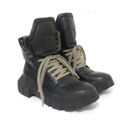 Rick Owens Tractor Dunk Hiking Boots Black Leather Size 37