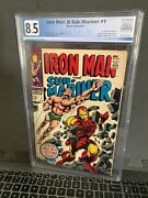 Iron Man And Sub-mariner 1 Graded 8.5 Off W/ White Pages