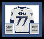 Frmd Victor Hedman Lightning Signed White Authentic Jersey And 2020 Sc Final Patch
