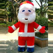 Inflatable Santa Claus Mascot Costume Suits Cosplay Party Game Dress Christmas @