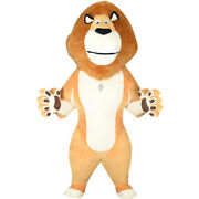 Christmas 2.6m/3m Lion Cosplay Inflatable Macot Costume Lion Animal Advertising@