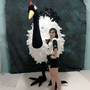 2m Bird Crane Mascot Costume Suit Cosplay Party Game Dress Christmas Adults Size