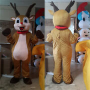 2020 Christmas Reindeer Mascot Costumes Party Adults Cosplay Birthday Game Dress