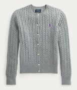 Nwt Girls Cable Cotton Sweater Cardigan Button Up Gray Size 5t