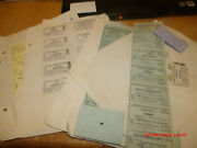 Huge Coll Of Antique Top Shape Vrginia And Truckee Railroad Tickets.1870s-1920s