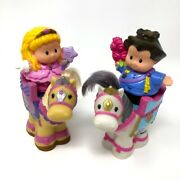 Fisher Price Little People Castle Kingdom Horse And Princess Figures Lot