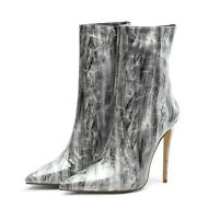 Fashion Over The Knee Boots Pu Leather Pointed Sexy High Heel Socks Boots