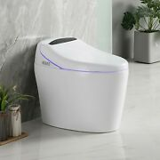 Us Elongated One Piece Smart Toilet Comfort Height Soft Closing Seat Easy Clean