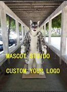 Snow Leopard Mascot Costume Suit Cosplay Party Game Dress Outfit Christmas Adult
