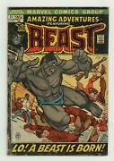 Amazing Adventures 11 Fr/gd 1.5 1972 1st App. Beast In Mutated Form