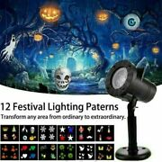 Outdoor Led Moving Snowflake Laser Light Halloween Projector Christmas Party