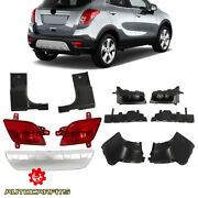 For Buick Encore 2013-2016 Rear Bumper Covers Skid Plate Bracket And Lamps Combo