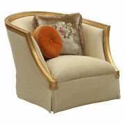 Ergode Chair W/2 Pillows Tan Flannel And Antique Gold