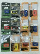 Qty 12 Assorted Digital Hour Meters For Motorcycle, Atv, 2/4 Stroke Gas Engines