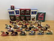 Huge Lot Of Hallmark Ornaments Horse Rocking A Pony For Christmas Carousel