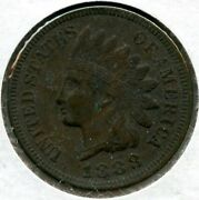 1888 Indian Head Cent Penny Bq661