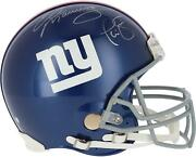 Phil Simms And Eli Manning New York Giants Signed Vsr4 Authentic Helmet