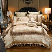 Luxury Bedding Set Cotton Household Sheets Thick Bed Skirt Bedspread Pillows