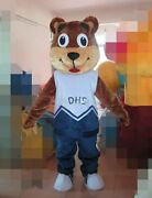 Christmas Bear Mascot Costume Cosplay Party Dress Clothing Carnival Adults Fancy