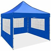 10x10ft Pop Up Canopy Tent Commercial Instant Gazebo Tent Waterproof Royal Blue