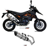 Full System Motorcycle Mivv Ktm 690 Sm 2010 10 Exhaust Stainless Steel