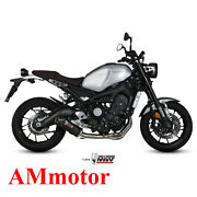 Full System Mivv For Yamaha Xsr 900 2018 18 Exhaust Oval Carbon Cap Motorcycle