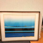 【rank A-b】tetsuro Sawada Lithograph 1981 22/80 With Pencil Sign And Metal Frame
