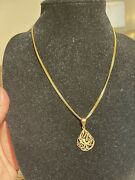 22k Hallmark 916 Pure Solid Gold Necklace Set Chain And Pendant