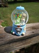 Precious Moments Snow Globe Gumball Count Your Blessing Musical Toyland Boy 2001