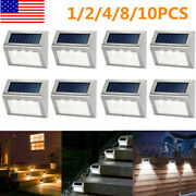 Solar Powered 3 Led Deck Lights Outdoor Path Garden Stairs Step Fence Lighting