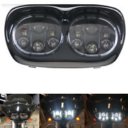 5-3/4 5.75 Inch Projector Dual Led Headlight For Motorcycle Road Glide 2004-13