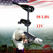 New 58lb Electric Trolling Motor Outboard Engine Rubber Inflatable Fishing Boat