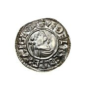 Aethelred Ii Silver Penny 978-1016ad Crux Type Lincoln Ps473e