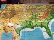 Vtg Cramand039s Wall Map Of The United States Pull Down School Classroom Large 63x56