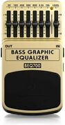 Behringer Bass Effect Pedal 7 Band Graphic Equalizer Tan Beq700 Bass Graphic Equ