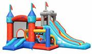 Bounceland Medieval Bounce Castle Bounce House With Slide And Ball Pit Basketba...