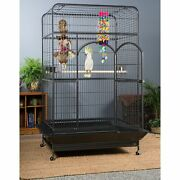 Extra Large Black Empire Pet Cockatiel Bird Parrot Parakeet Cage Finch W/ Stand