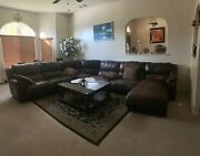Leather Sofa Set For Living Room - Used