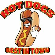 Hot Dogs All Beef 48 Concession Decal Sign Cart Trailer Stand Sticker Equipment