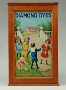 A Good Cherry Diamond Dyes Advertising Cabinet.