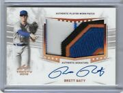 2019 Leaf Trinity Brett Baty 5 Color Number Patch Bronze Foil Auto Rc Mets