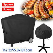 3 Sizes Bbq Covers Heavy Duty Waterproof Barbecue Kettle Smoker Grill Protectors