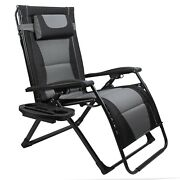 Xxlarge Oversize Recliner Folding Chair For Camping Patio Outdoors Zero Gravity