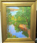 Claiborne Duncan Gregory The Quarry Pool Original Oil On Canvas Painting