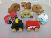 The Happy Factory Wooden Toy Car And Trucks Lot Of 5
