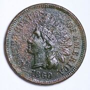 1869/9 Indian Head Cent Penny Au Details Corroded Free Shipping E110 Rkc