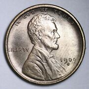 1909-s Lincoln Wheat Cent Penny Choice Bu Uncirculated Ms Free P/h E149 Tnfm
