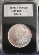 1878-s 1 Morgan Gemms+++++dmpl Fresh From Vintage Roll Perfect Coin