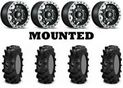 Kit 4 Itp Cryptid Tires 28x10-14 On Fuel Anza Beadlock Matte Black D917 Hp1k